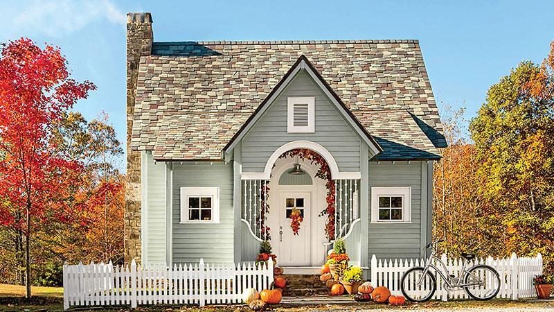 "<p>At a modest 1,200 square feet, this pint-sized cabin proves that you don't need size to seriously wow from the outside. A gabled roofline tops an inviting entryway, including an arched doorframe with a transom window, while a slate shingled roof and clapboard siding bring the cottage charm up even further.</p> <p>2 bedrooms/ 2 baths</p> <p>1,200 square feet</p> <p><strong>See plan:</strong> <a href=""http://houseplans.southernliving.com/plans/SL1894"" rel=""nofollow noopener"" target=""_blank"" data-ylk=""slk:Cloudland Cottage"" class=""link rapid-noclick-resp"">Cloudland Cottage</a></p>"