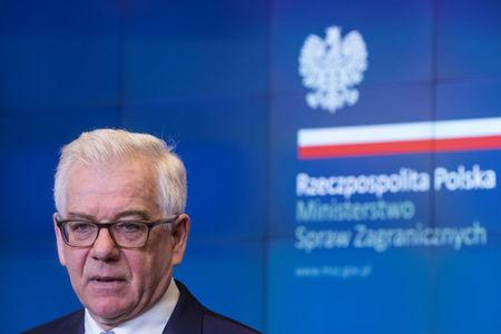 Poland's Foreign Minister Czaputowicz speaks during news conference about expelling Russian diplomats in Warsaw
