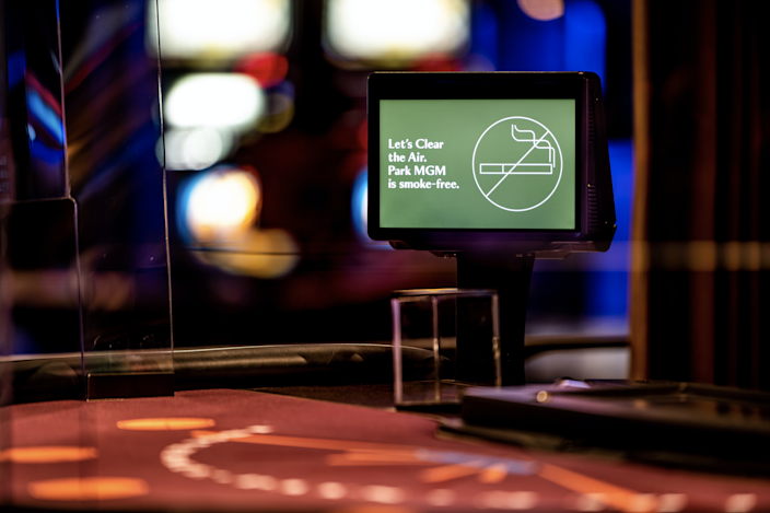 When the Park MGM casino reopens Sept. 30 in Las Vegas, patrons will find notices informing them it will be the Strip's only smoke-free property.