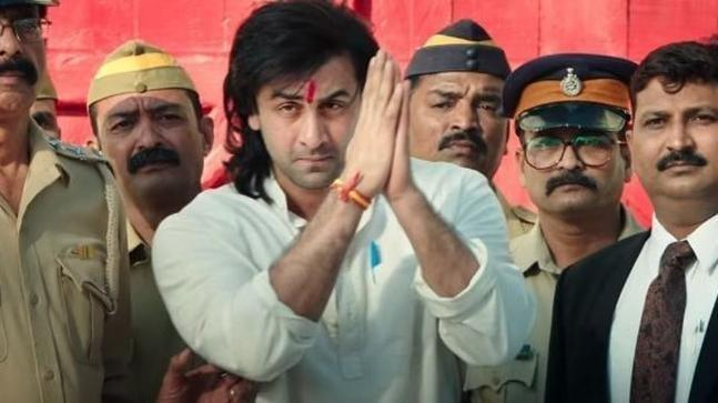 Ranbir Kapoor as Sanjay Dutt in 'Sanju.'