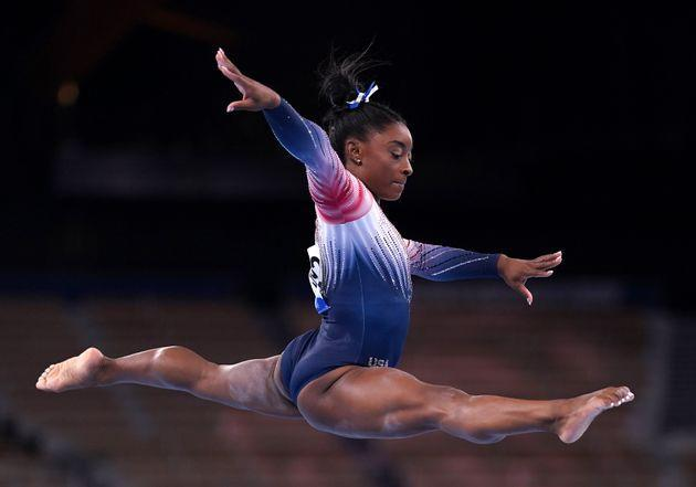 Simone Bilespulled out a hard-fought bronze medal on the balance beam. (Photo: Mike Egerton - PA Images via Getty Images)