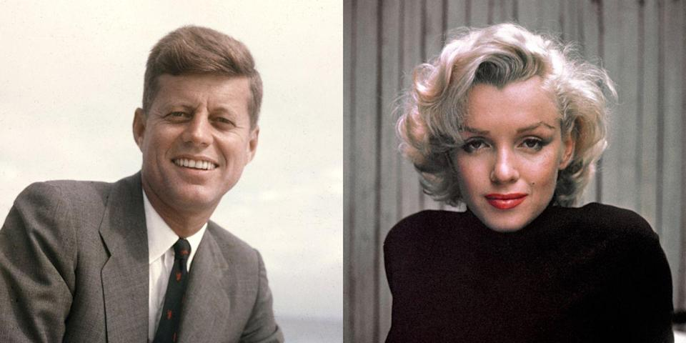 "<p>Monroe's sultry ""Happy Birthday"" to the president <a href=""https://www.harpersbazaar.com.au/celebrity/scandalous-celebrity-affairs-15060"" rel=""nofollow noopener"" target=""_blank"" data-ylk=""slk:spurred rumors of an affair between the two"" class=""link rapid-noclick-resp"">spurred rumors of an affair between the two</a>. Monroe was also rumored to have had relations with JFK's brother, Robert F. Kennedy. </p>"