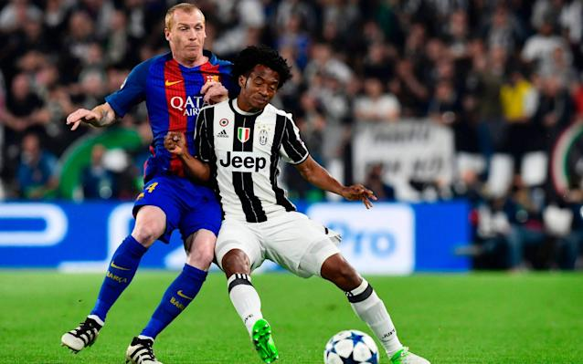 <span>Jeremy Mathieu (L) was tormented by Juan Cuadrado (R) on Tuesday</span>