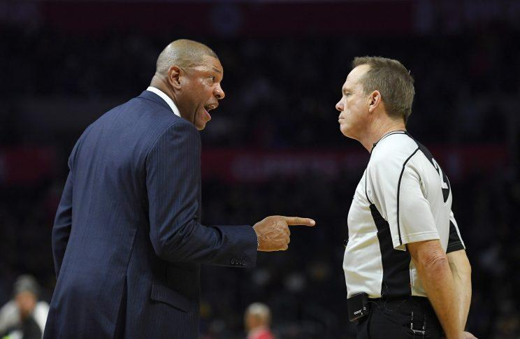 Doc Rivers doesn't think his Clippers complaining about officials is a problem. (AP)