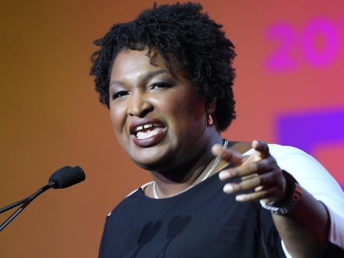 Stacey Abrams speaks onstage during the 2018 Essence Festival presented by Coca-Cola at Ernest N. Morial Convention Center on July 7, 2018 in New Orleans, Louisiana.
