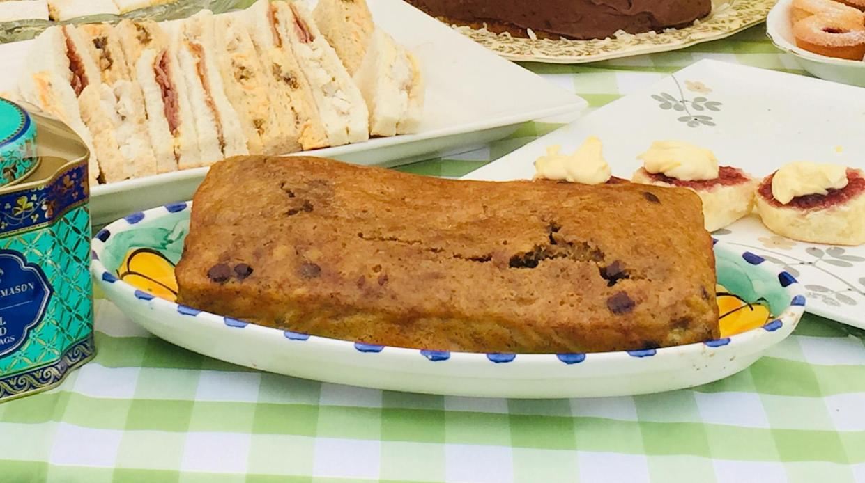 The banana cake made by the Duchess of Sussex during her visit to a local farming family, the Woodleys in Dubbo, on the second day of the Royal couple's visit to Australia.