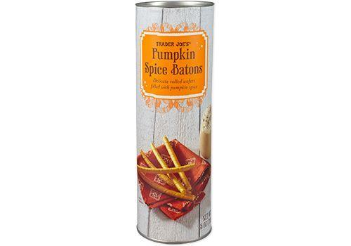 <p>You're familiar with the cocoa and vanilla baton varieties, but <strong>this pumpkin-flavored take is full of seasonal spices and gives you a crunchy and creamy texture in each bite. </strong>Try it dipped in hot cocoa or apple cider for a Fall-inspired treat.</p>