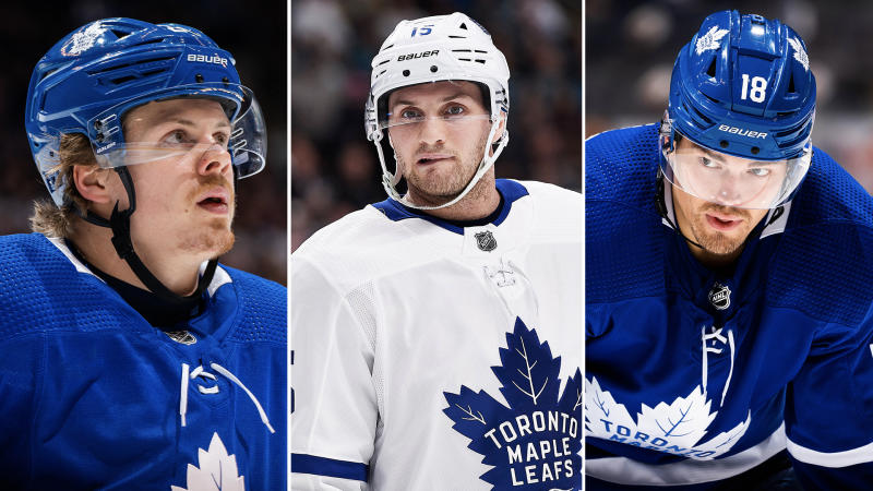 Kasperi Kapanen, Alexander Kerfoot and Andreas Johnsson are the Leafs' most obvious trade chips heading into the offseason. (Getty Images)