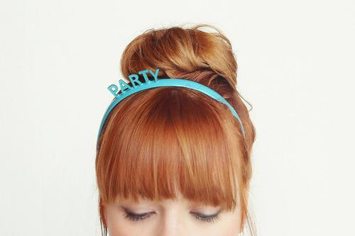 diy NYE headband with the words party