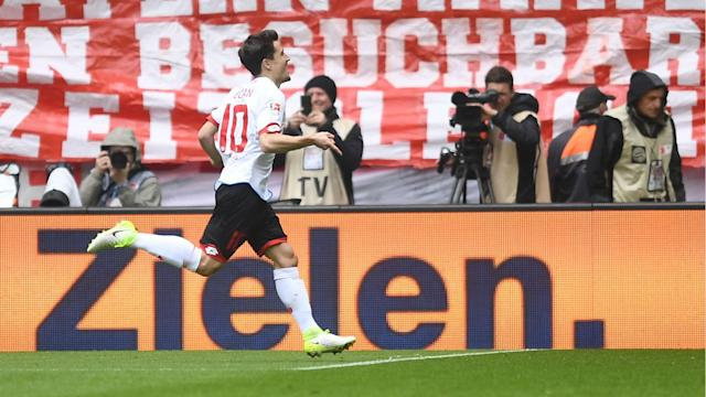 The opening goal in Mainz's 2-2 draw at Bayern Munich made Bojan Krkic the first Spaniard to score in Europe's top four major leagues.