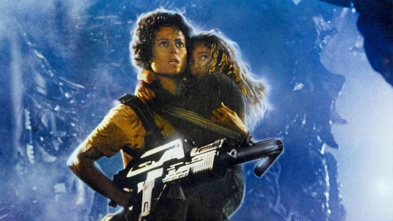 Sigourney Weaver as Ripley on the poster for 'Aliens'. (Credit: Fox)