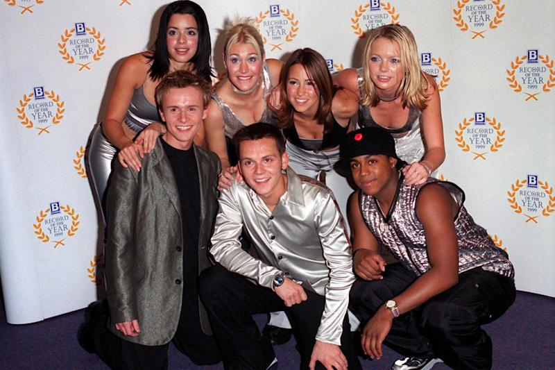 Throwback: Paul Cattermole with his former S Club 7 band mates (PA)