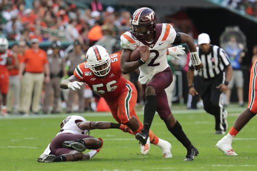 No. 20 Hokies could be shorthanded for opener vs Wolfpack