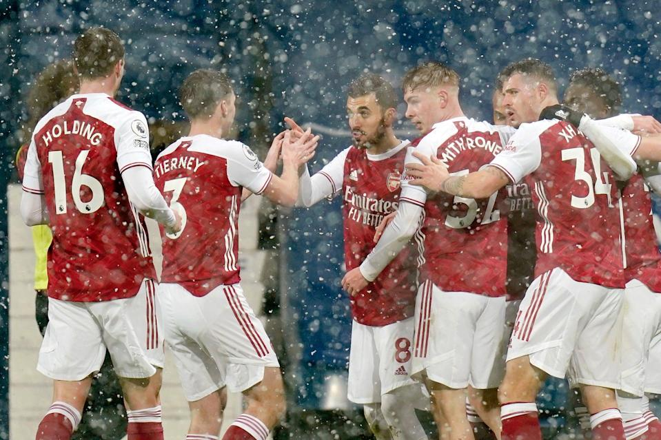 <p>Rampant Gunners: West Brom proved no match for Arsenal at The Hawthorns</p> (Getty Images)