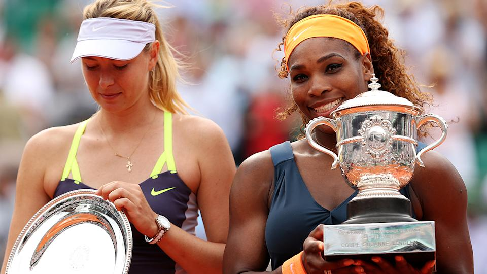 Serena Williams, pictured here after beating Maria Sharapova in the 2013 French Open final.