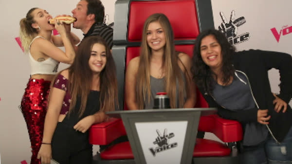 """Singer Miley Cyrus and Jimmy Fallon photobombed a bunch of fans for Tuesday's broadcast of """"The Tonight Show."""""""