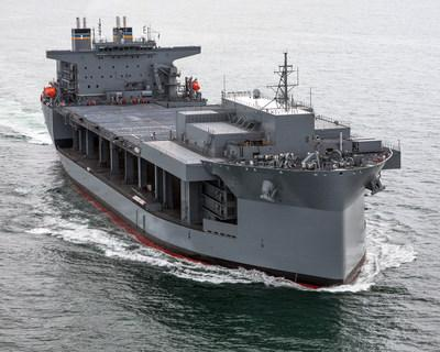 The third Expeditionary Sea Base ship, Louis B. Puller, seen in this file photo. General Dynamics NASSCO was awarded a contract worth up to $1.6 billion for the design and construction of two additional ESB ships, with an option for a third.