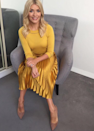 """<p>Holly sent viewers scouring the internet for a gold pleated skirt she donned for a recent episode of 'This Morning'. The £139 Whistles <a rel=""""nofollow noopener"""" href=""""http://www.whistles.com/women/clothing/skirts/satin-pleated-skirt-26128.html?dwvar_satin-pleated-skirt-26128_size=04&utm_source=google_shopping&utm_medium=cpc&utm_term=.&utm_campaign=&utm_content=ssKiKLBGs_dc pcrid  pkw  pmt  pid 26128_Yellow_04 &gclid=EAIaIQobChMI9PD5waOg1wIVLLHtCh0BtASBEAQYASABEgJ_I_D_BwE"""" target=""""_blank"""" data-ylk=""""slk:number"""" class=""""link rapid-noclick-resp"""">number</a> is on the top of our wish lists this season and so is her sunny <a rel=""""nofollow noopener"""" href=""""http://www.boden.co.uk/en-gb/womens-knitwear/knitted-jumpers/k0026-yel/womens-saffron-petronella-jumper"""" target=""""_blank"""" data-ylk=""""slk:Boden"""" class=""""link rapid-noclick-resp"""">Boden</a> top… </p>"""