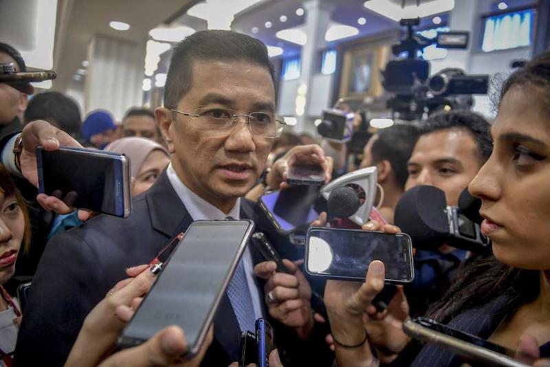 Datuk Seri Azmin Ali says it is significant that Malaysia becomes one of the first countries to participate in the Belt and Road Initiative (BRI) and focus on investments from China. ― Picture by Firdaus Latif