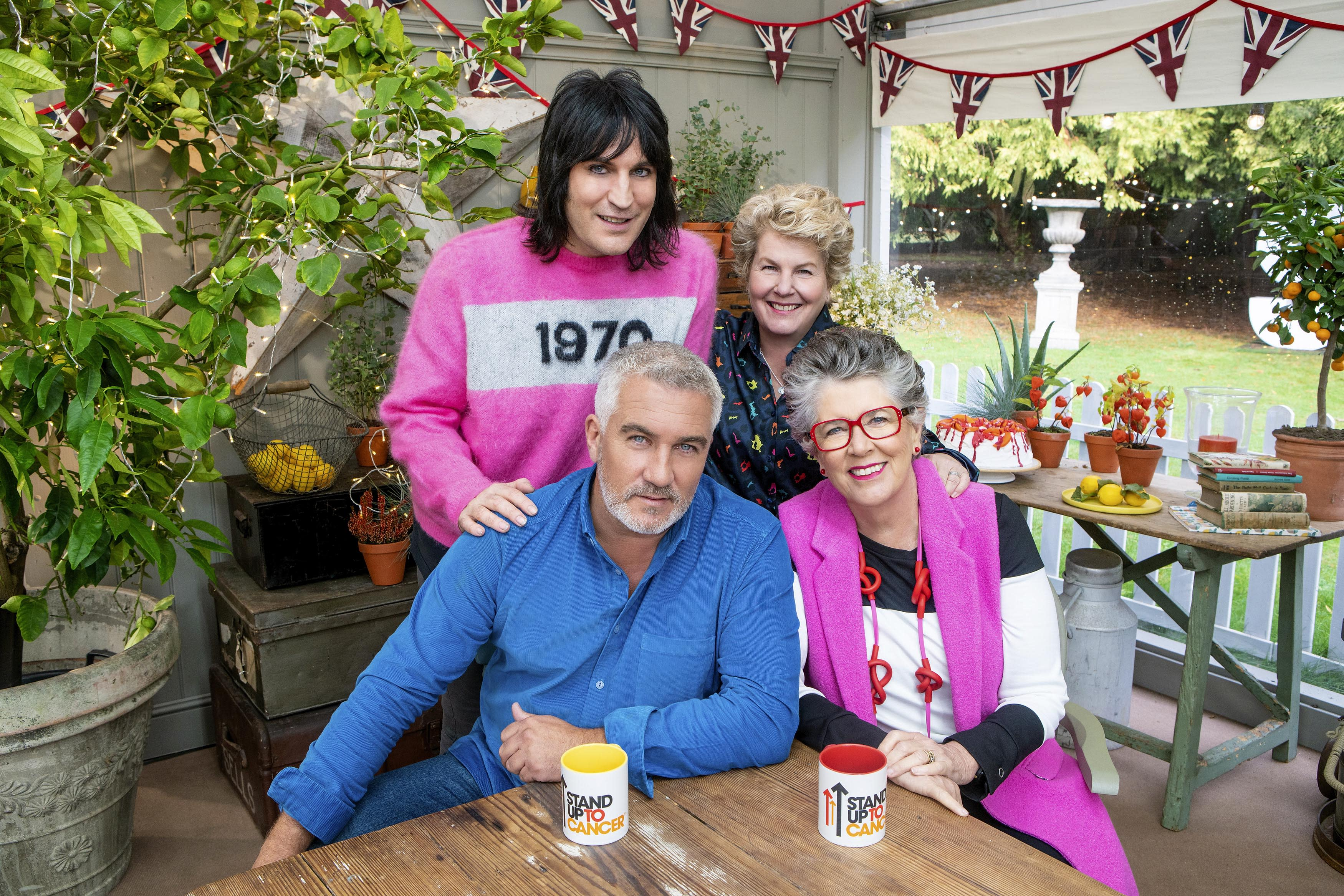 'The Great Stand Up To Cancer Bake Off' is hosted by Noel Fielding and Sandi Toksvig on Channel 4 (Channel 4/Mark Bourdillon)