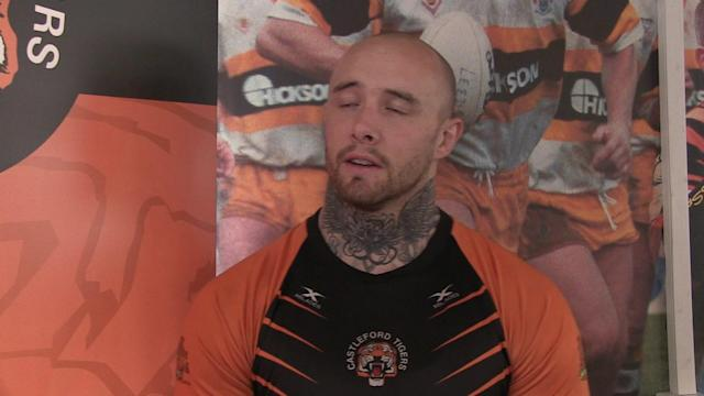 Castleford Tigers player Nathan Massey speaking ahead of the Super League match v Hull FC