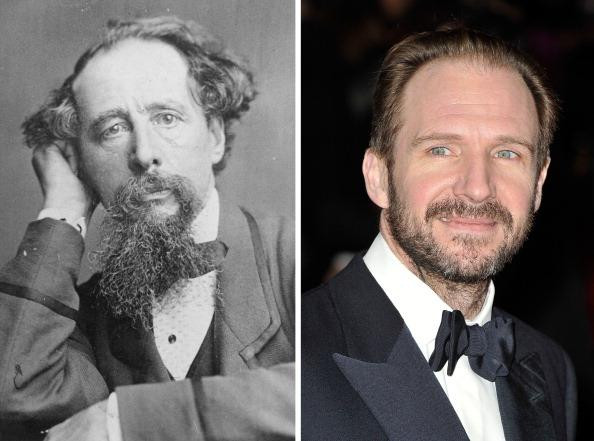 (FILE PHOTO) In this composite image a comparison has been made between Charles Dickens (L) and actor Ralph Fiennes. Ralph Fiennes will reportedly play Charles Dickens in a film biopic entitled 'The Invisible Woman' directed by the actor himself.  ***LEFT IMAGE*** 1858:  English novelist Charles Dickens (1812 - 1870) looks on circa 1858.  (Photo by General Photographic Agency/Getty Images) ***RIGHT IMAGE*** LONDON, ENGLAND - FEBRUARY 12:  Actor Ralph Fiennes attends the Orange British Academy Film Awards 2012 at the Royal Opera House on February 12, 2012 in London, England.  (Photo by Gareth Cattermole/Getty Images)