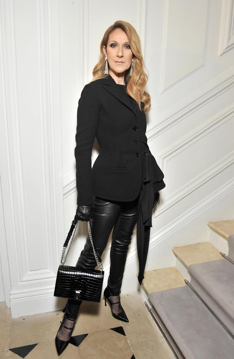 <p>Celina Dion made a surprise appearance on the Christian Dior front row. <i>[Photo:Swan Gallet/WWD/REX/Shutterstock]</i></p>