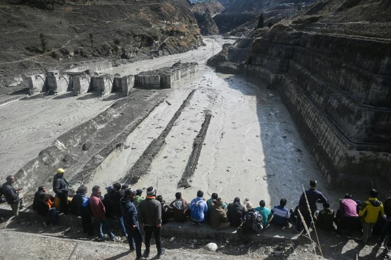 A dam along a river in Tapovan was severely damaged in the flash flood