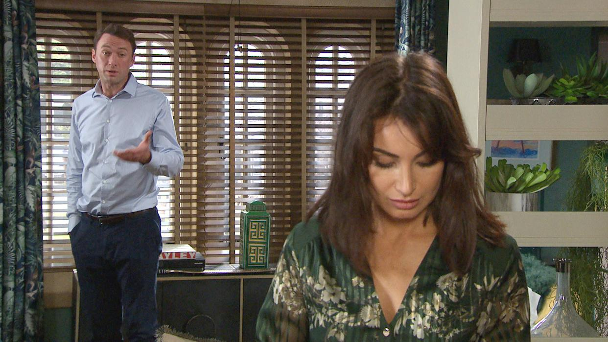 FROM ITV  STRICT EMBARGO  Print media - No Use Before Tuesday 31st August 2021 Online Media - No Use Before 0700 Tuesday 31st August 2021  Emmerdale - Ep 9145  Monday 6th September 2021  Liam Cavanagh [JONNY McPHERSON] suspecting that something might be wrong confronts Leyla Cavanagh [ROXY SHAHIDI]. She eventually admits that sheÕs had a miscarriage and lost their baby. Can Liam put his grief to one side and be there for his wife when she really needs him?  Picture contact David.crook@itv.com   This photograph is (C) ITV Plc and can only be reproduced for editorial purposes directly in connection with the programme or event mentioned above, or ITV plc. Once made available by ITV plc Picture Desk, this photograph can be reproduced once only up until the transmission [TX] date and no reproduction fee will be charged. Any subsequent usage may incur a fee. This photograph must not be manipulated [excluding basic cropping] in a manner which alters the visual appearance of the person photographed deemed detrimental or inappropriate by ITV plc Picture Desk. This photograph must not be syndicated to any other company, publication or website, or permanently archived, without the express written permission of ITV Picture Desk. Full Terms and conditions are available on  www.itv.com/presscentre/itvpictures/termsFROM ITV  STRICT EMBARGO  Print media - No Use Before Tuesday 31st August 2021 Online Media - No Use Before 0700 Tuesday 31st August 2021  Emmerdale - Ep 9145  Monday 6th September 2021  April Windsor's [AMELIA FLANAGAN] phone pings with messages and she realises her number has been posted online and she thinks this means she must know her bully. Cathy Hope [GABRIELLE DOWLING] looks increasingly worried by this.    Picture contact David.crook@itv.com   This photograph is (C) ITV Plc and can only be reproduced for editorial purposes directly in connection with the programme or event mentioned above, or ITV plc. Once made available by ITV plc Picture Desk, this photograph