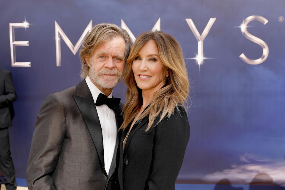 William H. Macy and Felicity Huffman arrive to the 70th Annual Primetime Emmy Awards held at the Microsoft Theater on September 17, 2018. (Photo by Trae Patton/NBC/NBCU Photo Bank via Getty Images)