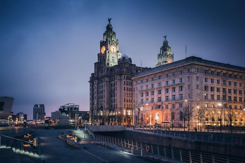 Royal Liver Building in Liverpool Liverpool, North West England, UK. (Photo: benkrut via Getty Images)