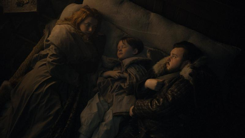 Hannah Murray as Gilly and John Bradley as Samwell Tarly in <i>Game of Thrones</i>. (Photo: Courtesy of HBO)