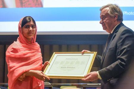 Malala Receives Top U.N. Honor to Promote Girls Education