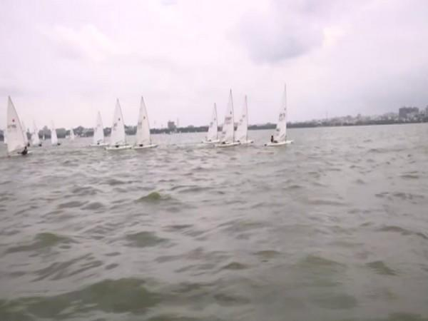 Visuals from the 35th Hyderabad Sailing Week. (Photo/ANI)