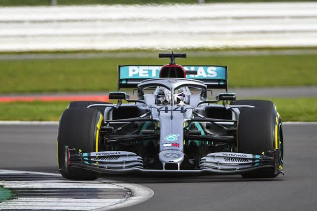 Lewis Hamilton got his first taste of the new Mercedes at Silverstone on Friday (PA Media/LAT for Mercedes)