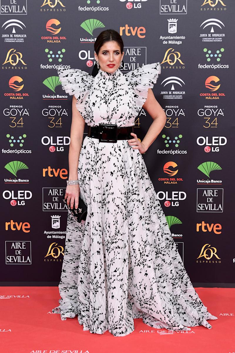 MALAGA, SPAIN - JANUARY 25: Lucia Jimenez attends the Goya Cinema Awards 2020 during the 34th edition of the Goya Cinema Awards at Jose Maria Martin Carpena Sports Palace on January 25, 2020 in Malaga, Spain. (Photo by Carlos Alvarez/Getty Images)