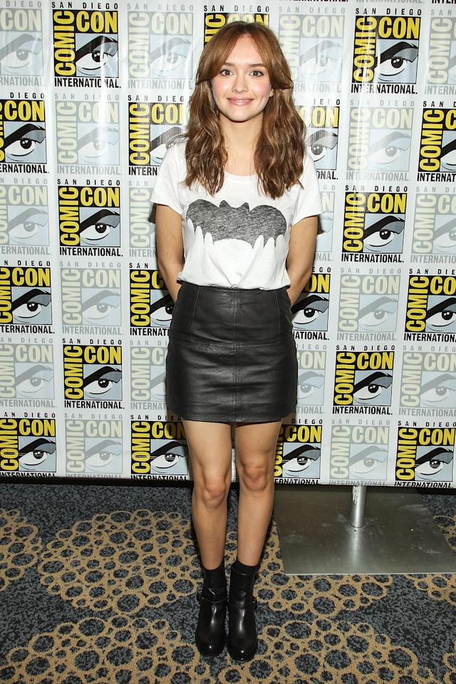 "Olivia Cooke attends the ""Bates Motel"" press line during Comic-Con International 2013 on July 20, 2013 in San Diego, California."