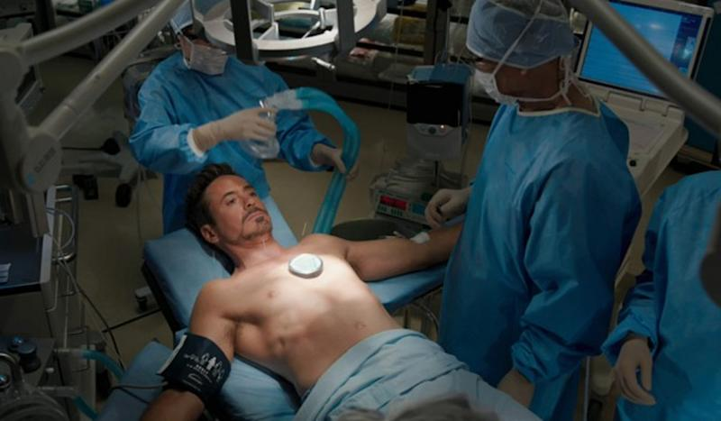 Iron Man gets his Arc Reactor removed in Iron Man 3 - Credit: Marvel
