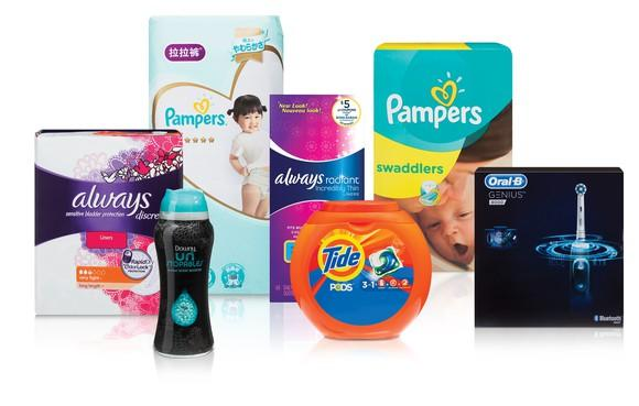 A selection of various Procter & Gamble products.