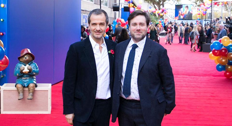 Paul King (right) with 'Paddington 2' producer David Heyman at the film's London premiere (James Gillham for STUDIOCANAL)