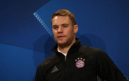 Bayern Munich's Manuel Neuer during the press conference