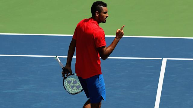 Nick Kyrgios was too good for David Ferrer, setting up a meeting with Grigor Dimitrov in the final in Cincinnati.