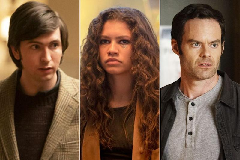 From left: Nicholas Braun in Succession, Zendaya in Euphoria and Bill Hader in Barry | HBO