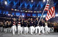 <p>In 2016, Ralph Lauren ditched the hats and added a red, white and blue striped T-shirt <em>and </em>matching boat shoes. </p>