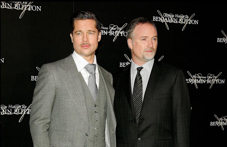 Brad Pitt and David Fincher at the French Premiere of 'The Curious Case of Benjamin Button' in 2009 (credit: WENN)