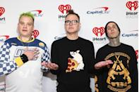 <p>The band took a hiatus in 2005 and during their split, Travis Barker was one of the few survivors of a deadly plane crash. They reunited in 2009, but there was still friction in the band and singer Tom DeLonge quit in 2014. He was replaced by Matt Skiba; that trio has continued to perform to date. </p>