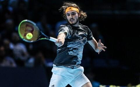 Stefanos Tsitsipas returns the ball with interest - Credit: getty images