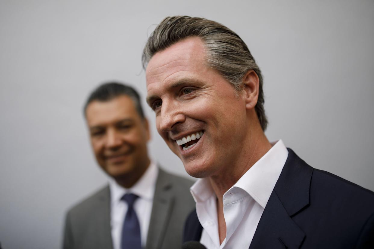 California Lt. Gov. Gavin Newsom (D), a former mayor of San Francisco, is the odds-on favorite to become governor. (Photo: Bloomberg/Getty Images)