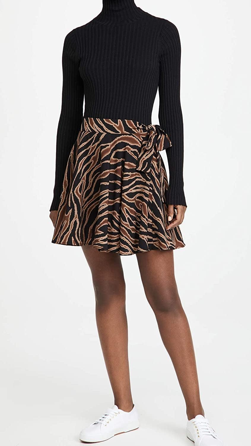 <p>Style this <span>BB DAKOTA Swing of Things Skirt</span> ($47-$69) with your favorite sneakers and tee.</p>