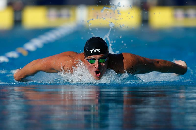 STANFORD, CALIFORNIA - AUGUST 04: Ryan Lochte swims in the Men's 200m Individual Medley during day 5 of the Phillips 66 National Championships on August 04, 2019 in Stanford, California. (Photo by Lachlan Cunningham/Getty Images)